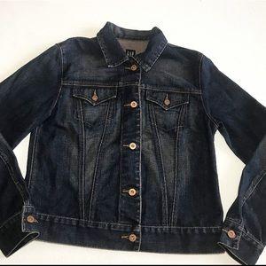 Dark Wash Denim 100% Cotton Gap Jean Jacket Med